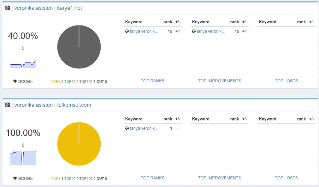 Chart pantau hasil Penggunaan aplikasi Serposcope pantau SERP